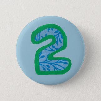 Bouton du numéro deux pin's