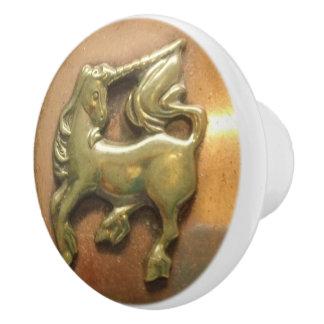 Bouton en céramique de médaillon de cuivre et en