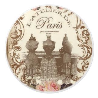 Bouton en céramique français vintage