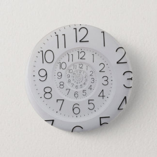 Bouton en spirale de Droste d'horloge Badge