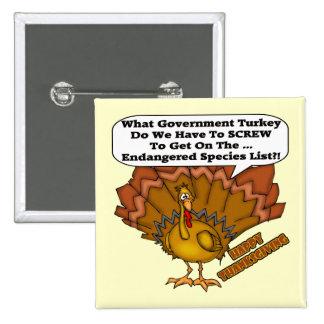 Bouton - espèce menacée de la Turquie Badge Carré 5 Cm