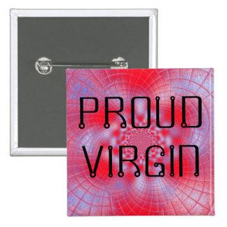 Bouton fier de Vierge Badge Carré 5 Cm