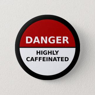 Bouton fortement caféiné badges