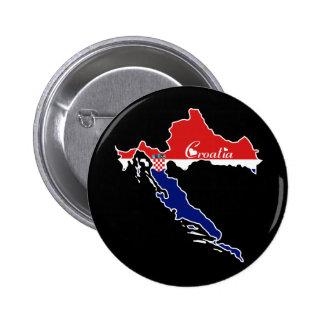 Bouton frais de la Croatie Badge