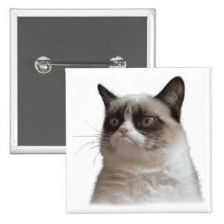 Bouton grincheux d'éclat de chat badges