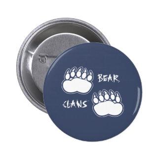 Bouton gris bleu-foncé de griffes d'ours pin's