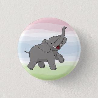 Bouton gris heureux d'éléphant badges
