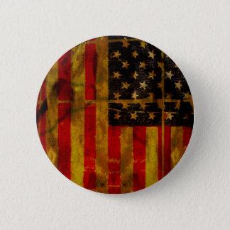 Bouton grunge de drapeau américain des Etats-Unis Badge