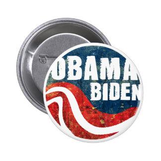 Bouton grunge d'Obama Biden Badges
