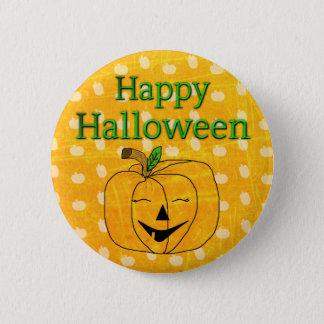 Bouton heureux de citrouille de Halloween Pin's
