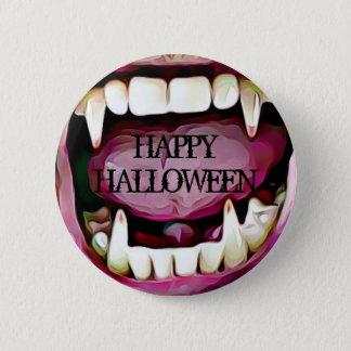 Bouton heureux de crocs de vampire de Halloween Badges
