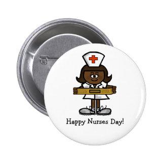 Bouton heureux de jour d'infirmières - infirmière  badge avec épingle