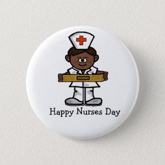Bouton heureux de jour d'infirmières - infirmière pin's
