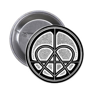 Bouton humanitaire de symbole d'ANARCHIE d'AMOUR d Badge
