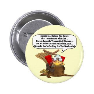 Bouton - interventions de la Turquie en faveur de  Badge Rond 5 Cm