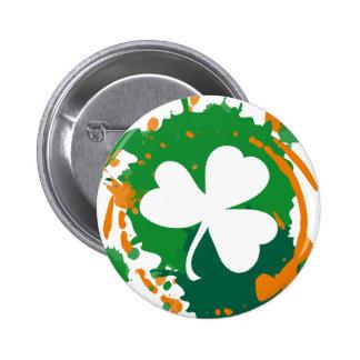 Bouton irlandais de trèfle d'encre pin's