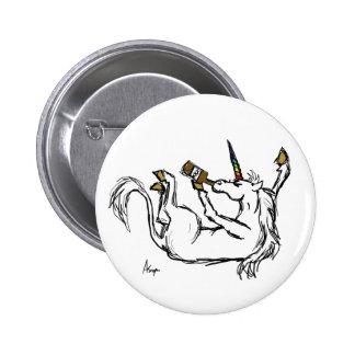 Bouton ivre de licorne pin's