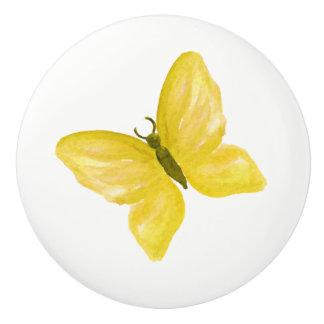 bouton jaune de papillon