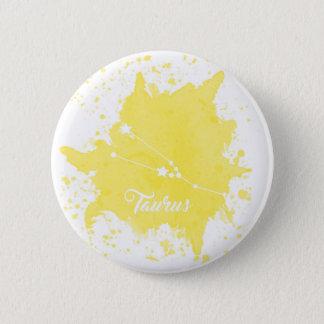 Bouton jaune de Taureau Badges