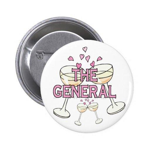 Bouton : Le général Pin's Avec Agrafe
