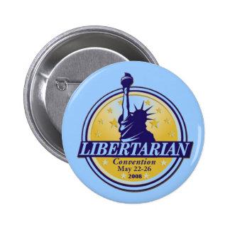 Bouton libertaire Denver LP de convention Badge