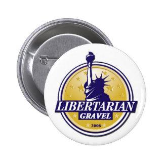 Bouton libertaire LP Denver de GRAVIER de partie Badges