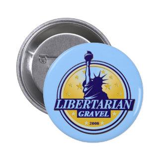 Bouton libertaire LP Denver de GRAVIER de partie Pin's