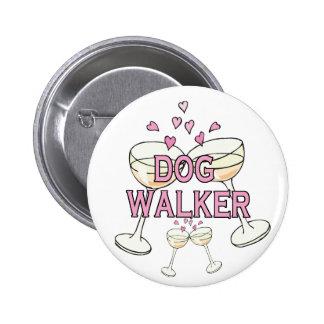 Bouton : Marcheur de chien Badges Avec Agrafe