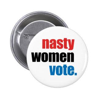 Bouton méchant de vote de femmes badge