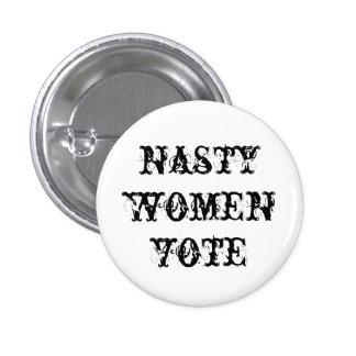 bouton méchant de vote de femmes badges