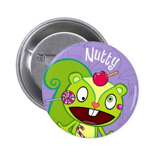 Bouton mignon à noix badges avec agrafe