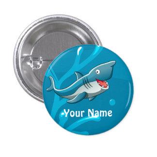 Bouton mignon aquatique de coutume de requin badge rond 2,50 cm