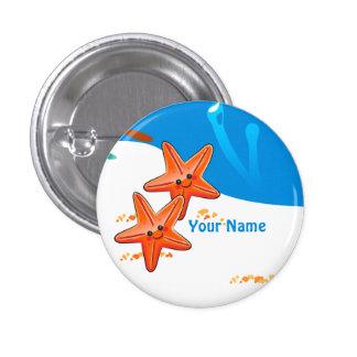 Bouton mignon aquatique de coutume d'étoiles de badges