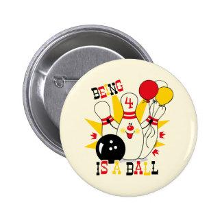 Bouton mignon d'anniversaire de Pin de bowling Badge Rond 5 Cm