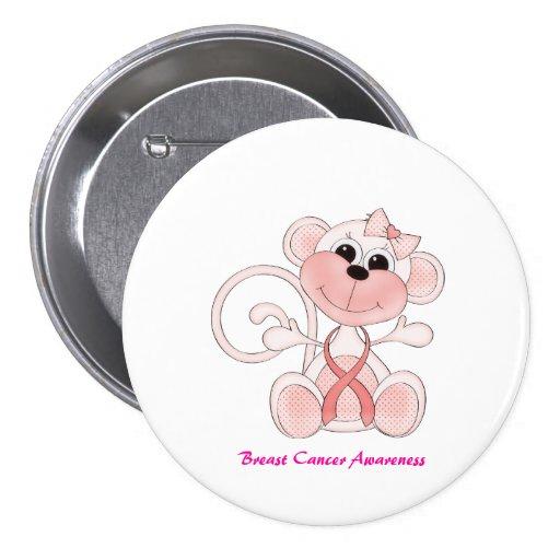 Bouton mignon de conscience de cancer du sein badges avec agrafe