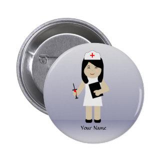 Bouton mignon de coutume de l'infirmière 2 badge