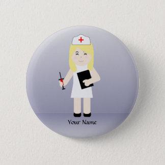 Bouton mignon de coutume de l'infirmière 4 badge