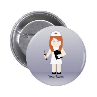 Bouton mignon de coutume de l'infirmière 5 badge