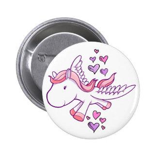 Bouton mignon de Pegasus de bébé Badges