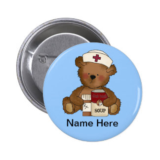 Bouton mignon d'infirmière badge rond 5 cm