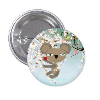 Bouton mignon tendre d'oiseau de cerise d'ours de  pin's avec agrafe