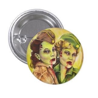 Bouton militaire adorable de femmes de zombi badges avec agrafe