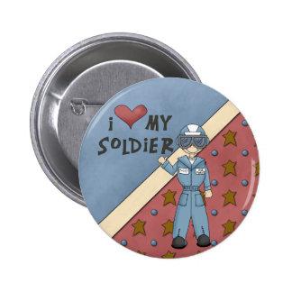 Bouton militaire d'homme de soldat de l'Armée de l Badge Rond 5 Cm