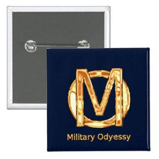 Bouton militaire d'odyssée badge carré 5 cm