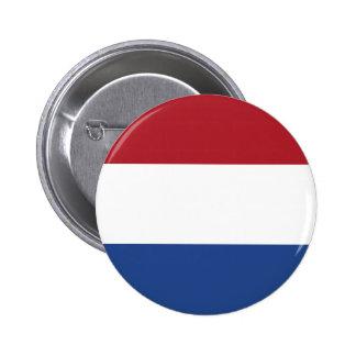 Bouton néerlandais de drapeau badges avec agrafe