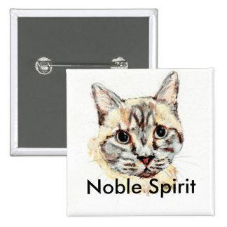 Bouton noble de chat d'esprit pin's