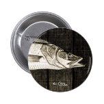 Bouton noir de Snook et blanc vintage Badges