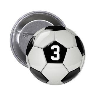 Bouton noir et blanc de nombre du Jersey de ballon Badges