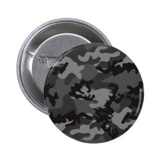 Bouton noir fait sur commande de Camo Badge