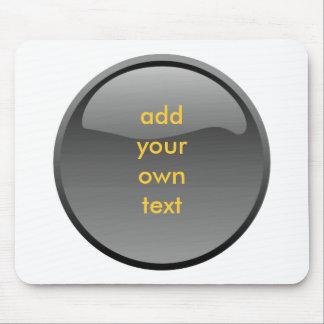 bouton noir tapis de souris